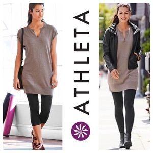 Athleta Brown Intent Sweater Dress Athletic